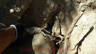Canlı Define Kaya Mezar Açılımı Çubukla Boşluk Tesbiti %100 Gerçek Live Rock Tomb Opening فتح القبر