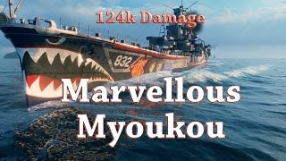 World of Warships: Marvellous Myoukou - 124k Damage