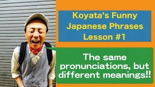 Koyata's Funny Japanese phrases #1: same pronunciations, different meanings(English)