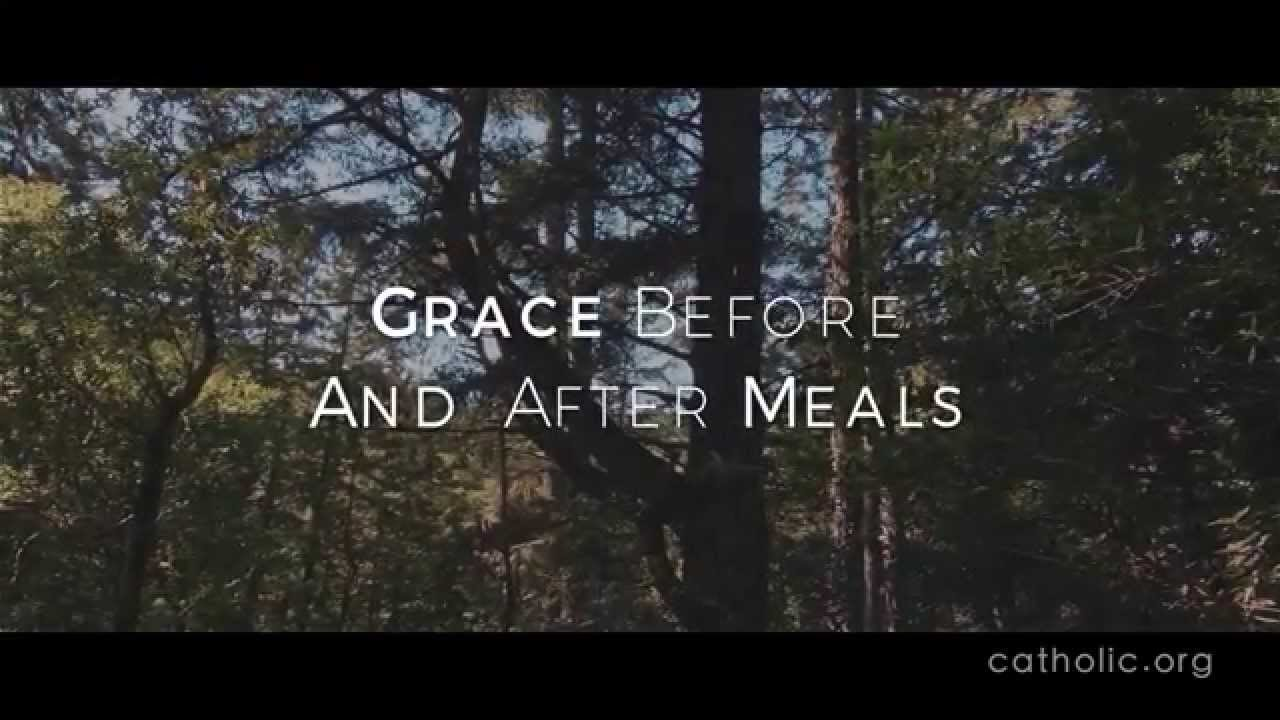 Grace Before And After Meals Prayers Catholic Online