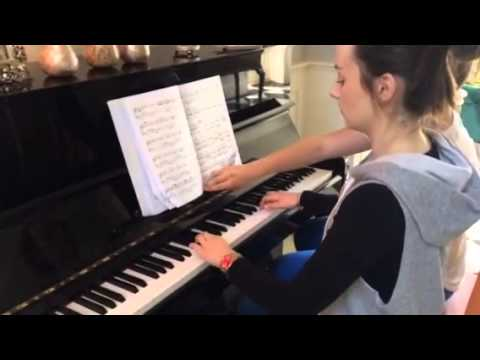 Leaving cert student warms up for music exams