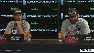 Alex Ovechkin, Braden Holtby -- Tampa Bay Lightning vs. Washington Capitals Game 7 05/23/2018