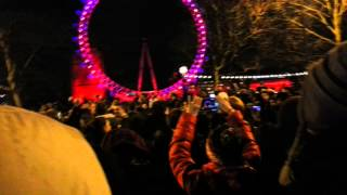 Punjabi beats at new year eve 2013 London eye