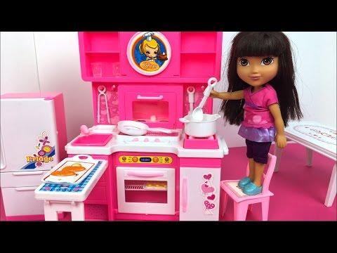 Dora la exploradora arregla su cocina gina cocina con luces sonidos con ustensillos y - Dora la exploradora cocina ...