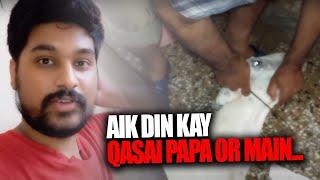 bakra zibah krny or khaal utaarny ka pura tareeqa   qurbani vlog   Eid Ul Adha 2020   baig vlogs