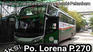 Aksi Lorena LE 232 P.270 di Jalan Lintas Timur Sumatera Jambi