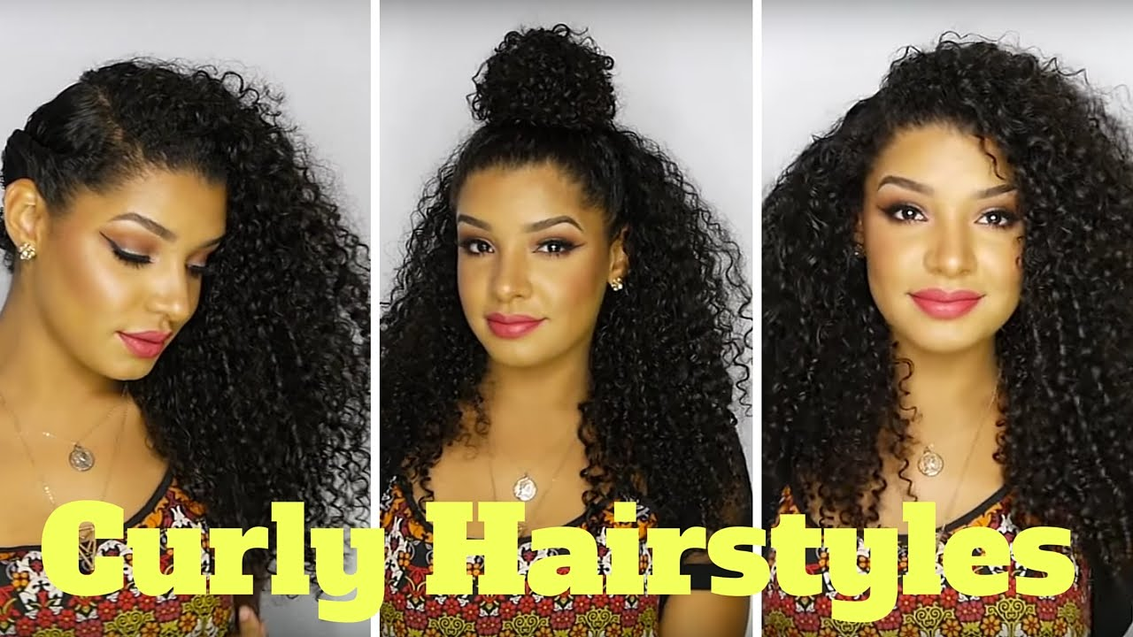 cute & easy curly hairstyles for natural hair - youtube