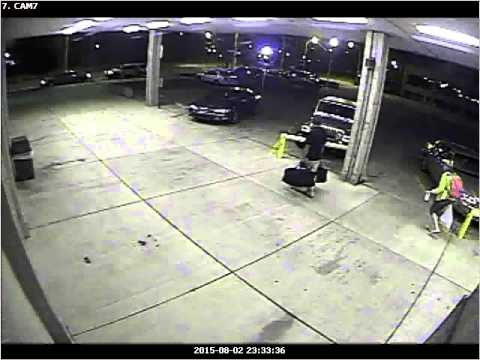 Greyhound bus station surveillance video