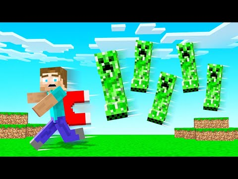 MINECRAFT But We Are A MOB MAGNET! (dangerous)