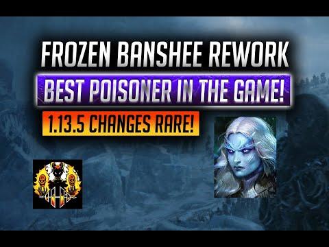 RAID: Shadow Legends | Frozen Banshee rework | Rare Clan Boss champion | Best poisoner in the game?!