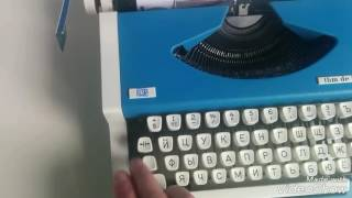 Yugoslavia Typewriter UNIS tbm de luxe Russian Keyboard