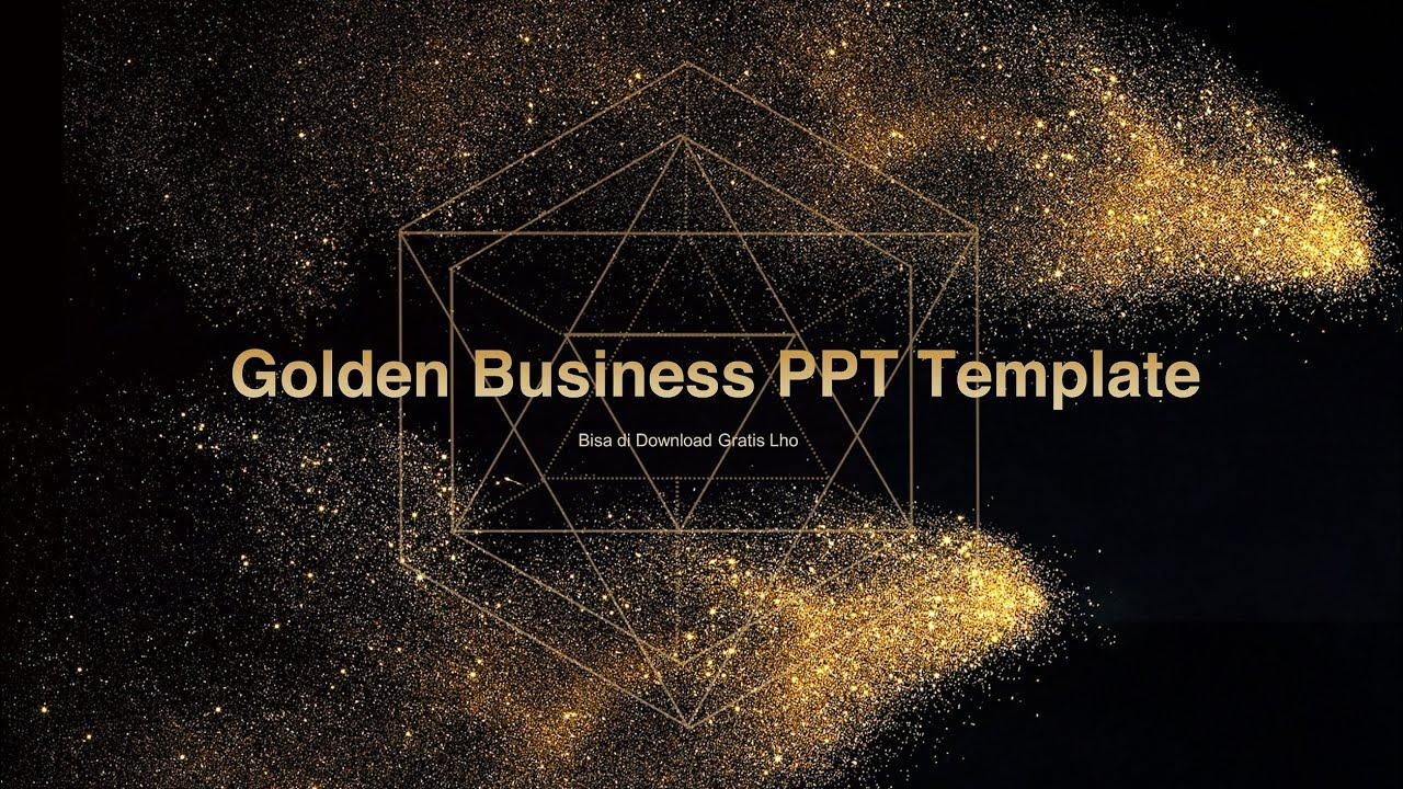 GRATIS Template PowerPoint Desain Partikel Emas Bisnis ...