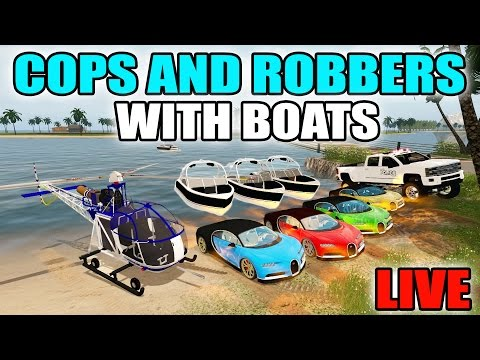 FARMING SIMULATOR 2017   TROPICAL COPS AND ROBBERS WITH BOATS, HELICOPTERS & BUGATTI   LIVE STREAM
