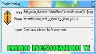 ERRO RESOLVIDO - I3 ENGINE EVENT LOG