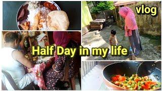 എന്റെ വീട്ടിലെ ഒരു ദിവസം||Half Day||morning to lunch vlog||Nadan recipes included||shadiya's vlogs