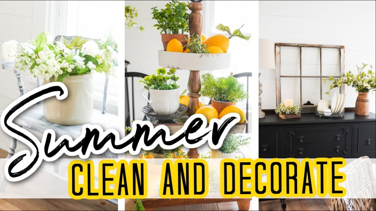 Summer Clean and Decorate with Me 2021 | Farmhouse Decorating Ideas for Summer!