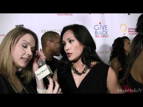 Asia De Marcos at the 68th Annual Golden Globes Awards Give Back Hollywood Giving Lounge