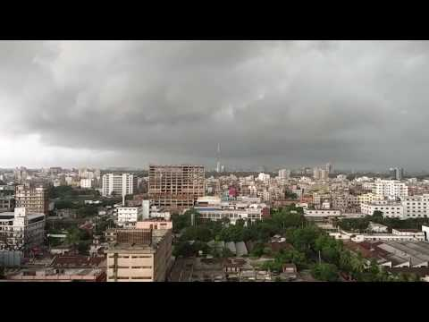 A cloudy day view of Tejgaon Industrial Area, Dhaka, Bangladesh