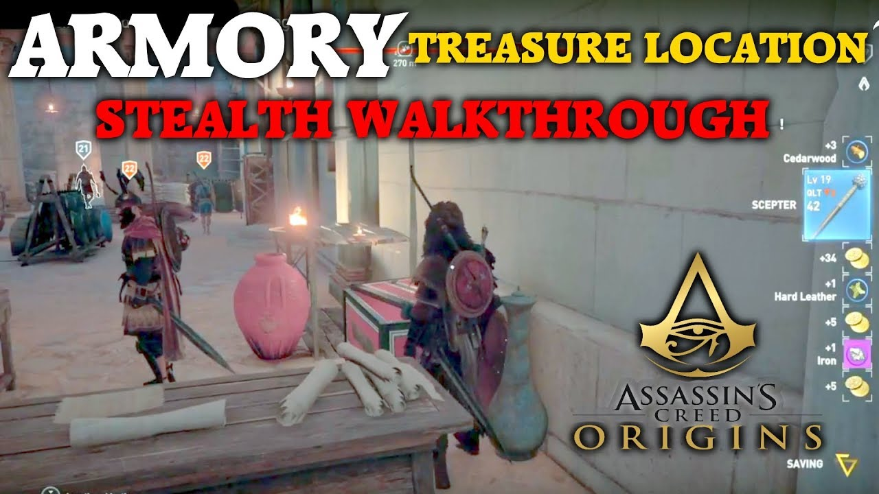 Assassin S Creed Origins Armory Treasure Location Stealth