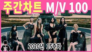 [주간차트 2020년 15주차] 금주의 KPOP 아이돌 뮤직비디오 순위 100 - 2020년 4월 12일  …