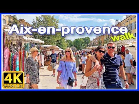 【4K】WALK Aix En Provence FRANCE 4k Video SLOW TV TRAVEL Vlog