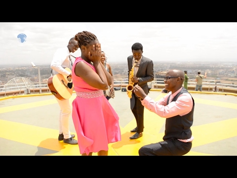 Man proposes to his girlfriend on Valentine's Day on top of KICC