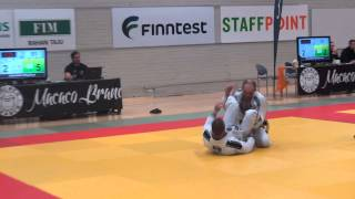 Finnish BJJ OPEN 2015 white belts  76 kg final Павел Евдокимов   Oskari Toikonniemi