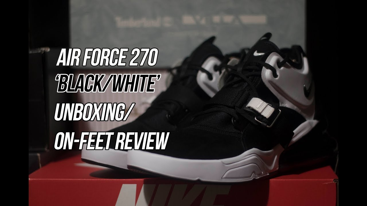 newest 89e49 87f63 Air Force 270 'Black/White' | Solepost Unboxings