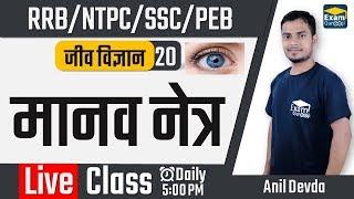 05:00 PM - Science - Biology - मानव नेत्र  | NTPC/RRB/SSC/PEB