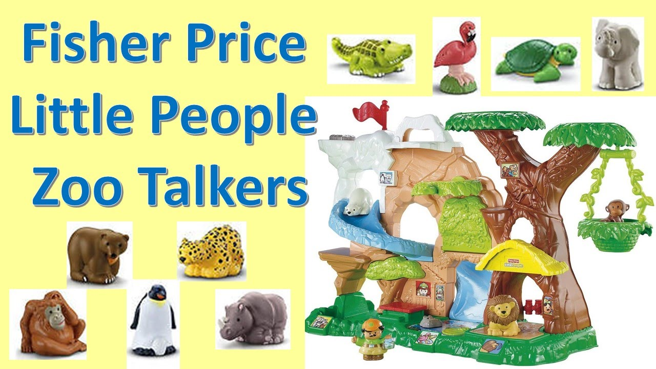 Fisher Price Little People Zoo Talkers Animal Play Set Toy Review Youtube