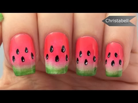 Easy Watermelon Nail Art Tutorial