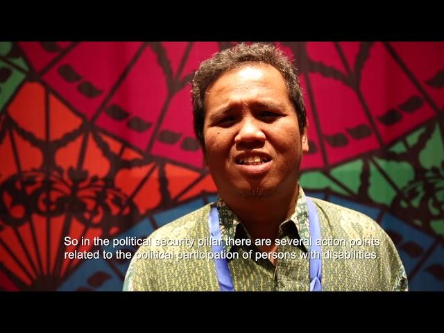 AGENDA Tolhas Damanik, AGENDA Disability Rights Adviser, Indonesia