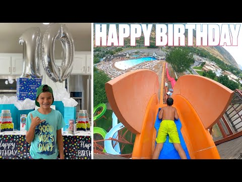 HAPPY BIRTHDAY KREW BINGHAM | GOING FULL SEND DOWN INSANE WATER SLIDES IN THE POURING RAIN WATERPARK