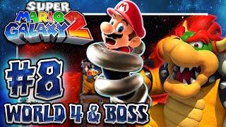 Super Mario Galaxy 2 - Part 8 (1080p 60FPS 100%): World 4 & BOWSER w/Facecam
