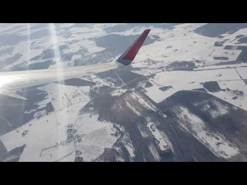 HD Tallinn - Moscow Wing View - Winter Takeoff and Landing