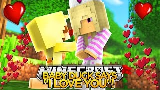 """BABY DUCK SAID """"I LOVE YOU"""" !!!- Minecraft - Baby Leah Adventures."""