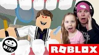 We RUN away from the EVIL DENTIST-Escape the Evil Dentist Obby! | Roblox | Daddy and Barunka CZ/SK