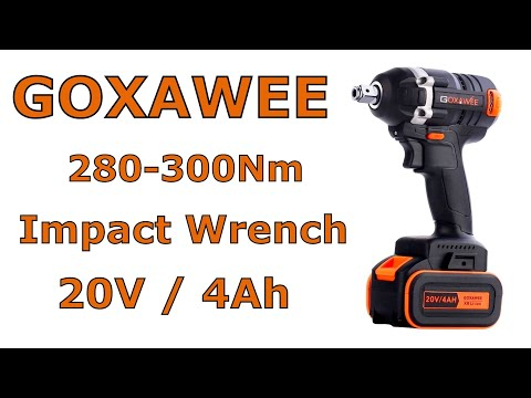 Goxawee G5060 Impact Wrench Schlagschrauber ütvecsavarozó 280-300Nm Test teszt