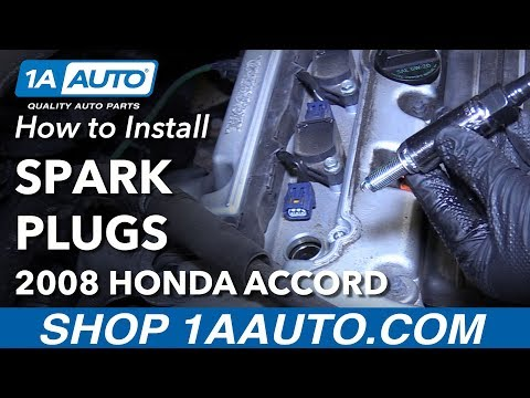 How to Replace Spark Plugs 08-12 Honda Accord