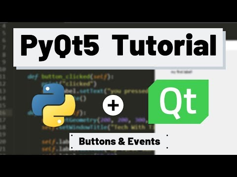 PyQt5 Tutorial - Buttons and Events (Signals) thumbnail