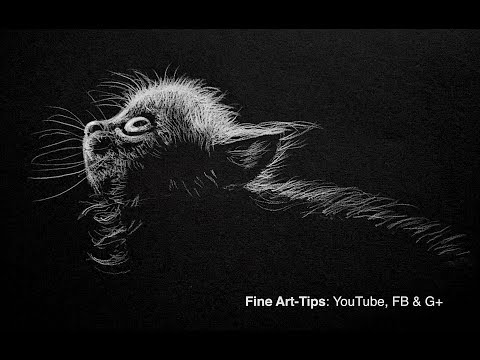 how-to-draw-a-cat---white-on-black---narrated