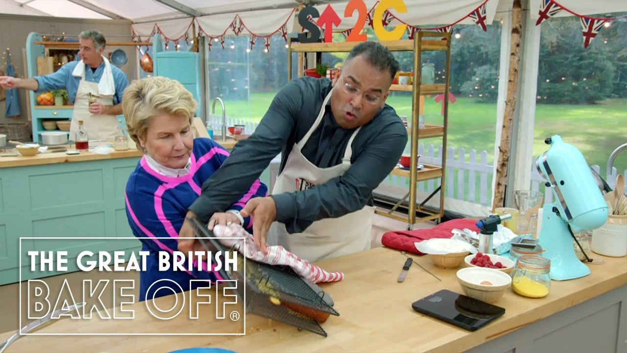 Krishnan Guru-Murthy's cake turning disaster! | The Great Stand Up To Cancer Bake Off