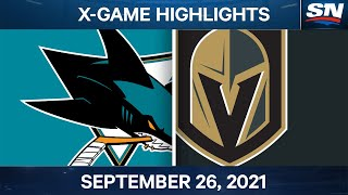 NHL Pre-Season Highlights | San Jose Sharks vs Vegas Golden Knights – September 26th, 2021