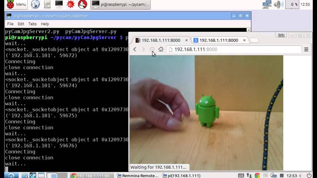 Python socket server to send camera image to client (II)