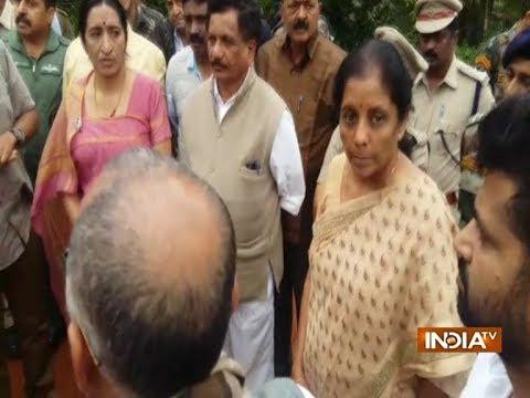 Kodagu flood: Nirmala Sitharaman snaps at Karnataka minister during press conference