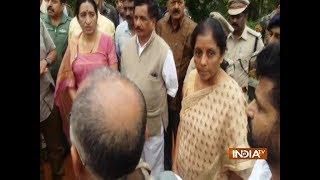 Video Kodagu flood: Nirmala Sitharaman snaps at Karnataka minister during press conference download MP3, 3GP, MP4, WEBM, AVI, FLV November 2018