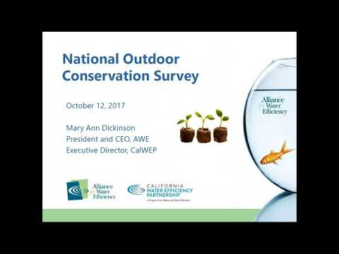 EPA/AWE Partner Webinar - Working With Homeowners Associations To Budget Water