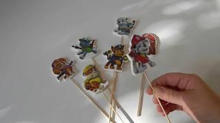 Топперы на Торт/ Как сделать Топпер/ Топпер своими руками/ Топеры Щенячий Патруль