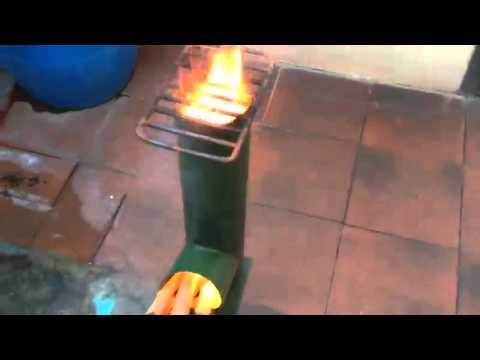 Cocina Economica Rocket Stove Youtube