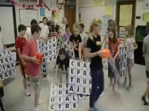 Giant Word Winder Game at North Park Elementary School